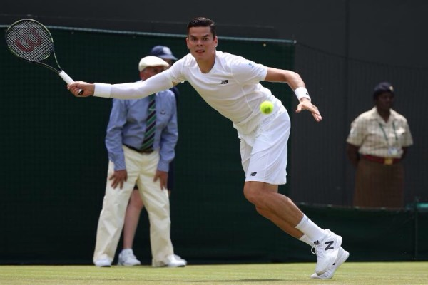 Milos Raonic Will Meet Nick Kyrgios in the Round of 32 at SW19. Image: AELTC.