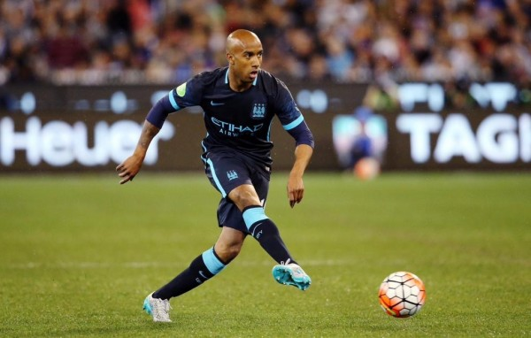 Fabian Delph Also Injured Bis Hamstring on His Manchester City Debut. Image: Getty.