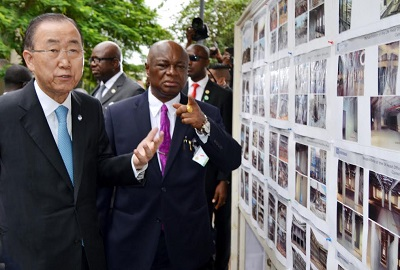 From Left: Ban ki-Moon, John Chukwu