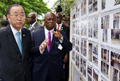 From Left: Ban ki-Moon, John Chukwu