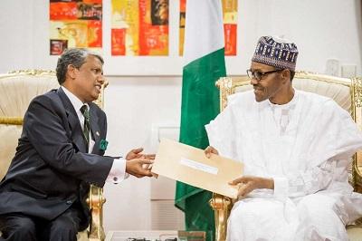 Indian High Commissioner to Nigeria-Rangaian Ghanashyam-Buhari