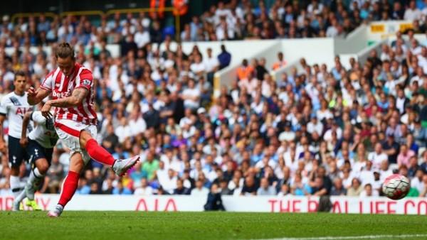 Marko Arnautovic's Goal Brought Stoke City Back to Life at White Hart Lane. Image: Getty.