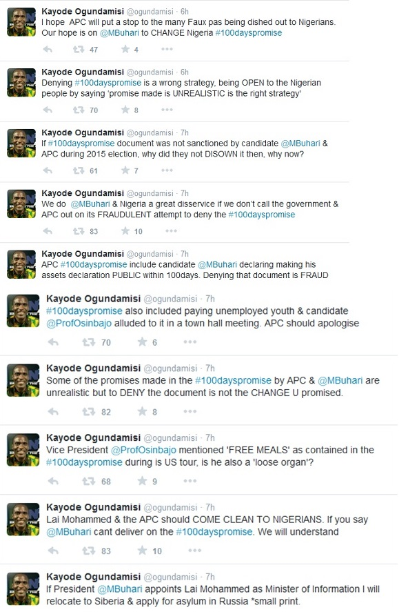 Ogundamisi tweets