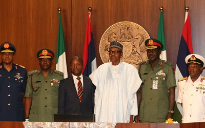 Buhari Decorates New Service Chiefs, Gives 3 Months Ultimatum To End Boko Haram