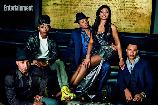 Empire (TV SHOW) (l-r) Tiraji P. Henson and Terrence Howard, grace the cover of Entertainment Weekly March edition.    Bryshere Y. Gray, Jussie Smollett, Trai Byers  Photographed February 12, 2015 at the Up and Down Club in New York, NY.  Photograph by Marc Hom