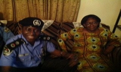Donu Kogbara with the CP Rivers State, Mr Musa Kimo at her PH residence after she was released by kidnappers Friday night