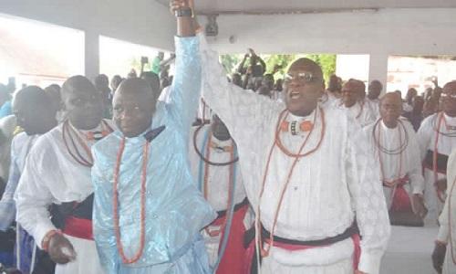 Godfrey-Ikenwoli-Emiko-new-Olu-of-Warri