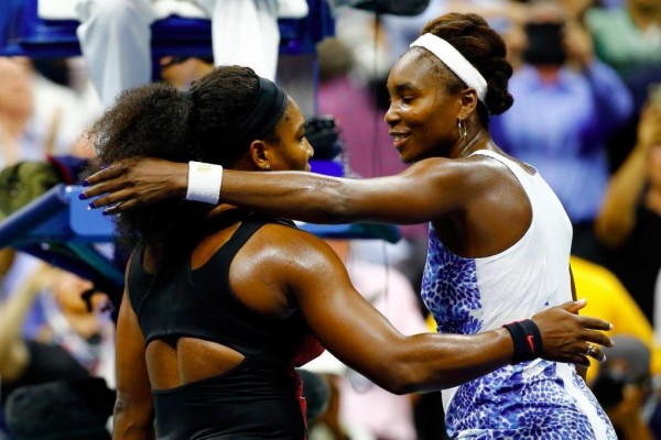 'No Victor; No Vanquished': Venus Congratulates Her Younger Sister after Their US Open Last-8 Tie in Arthur Ashe Stadium. Image: Getty via USTA.