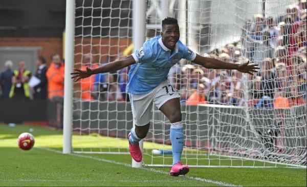 Iheanacho Celebrates Hos Premier League Debut Goal at Crystal Palace. Image: Getty.