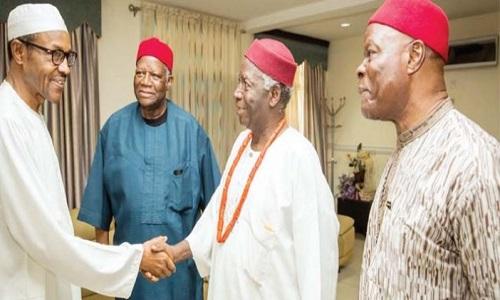 Buhari-N-Ikedife-Igbo-Leaders