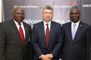 British Airways Regional Commercial Manager, West Africa, Mr Kola Olayinka; British Deputy High Commissioner, Ray Kyles and President, Nigerian British Chamber of Commerce (NBCC), Mr. Dapo Adelegan