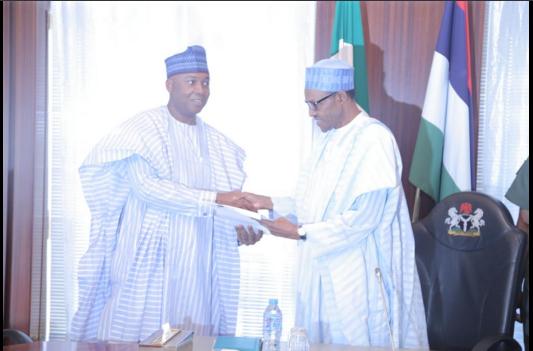 Saraki with Buhari