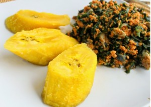Boiled plantain