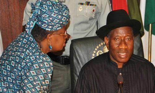 Ngozi Okonjo-Iweala-Goodluck Jonathan