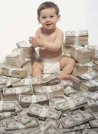 Child in money
