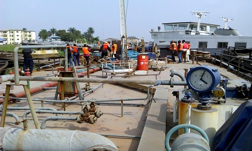 Navy Intercepts Vessels Containing 250,000 Liters Of Oil In Rivers
