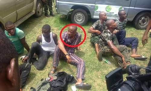 NYESOM WIKE'S SPECIAL ADVISER ON SPECIAL PROJECTS, CYRIL DUM WITE (ENCIRCLED), ARRESTED YESTERDAY