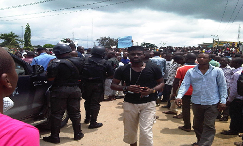 Police-UNIPORT-Protest