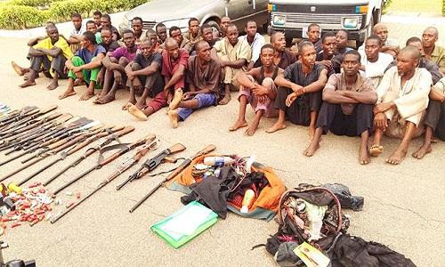 Armed Fulani herdsmen intercepted by the Army