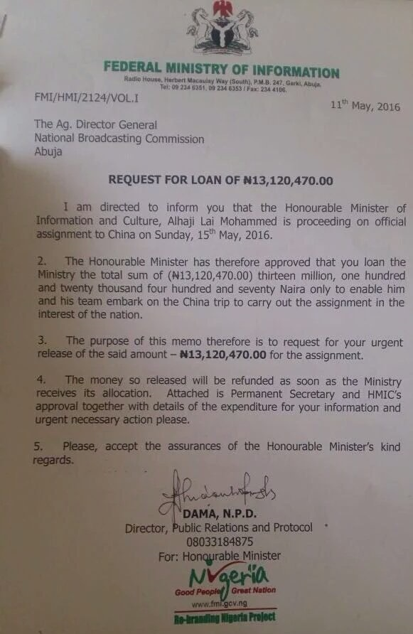 Lai-Mohammed-loan-request