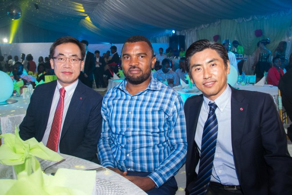 MR S.H KIM, M.D LGEAF, MR EMEKA OGUCHI, M.D POINTEK AND MR STEVE LEE, LGEAF MC PM