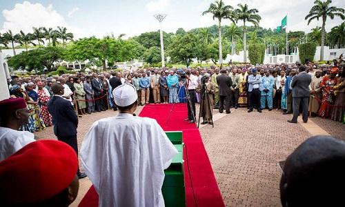 Buhari-Aso Villa Staff