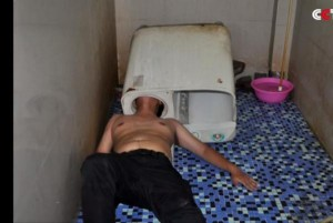 Firefighters-free-mans-head-from-washing-machine-in-China