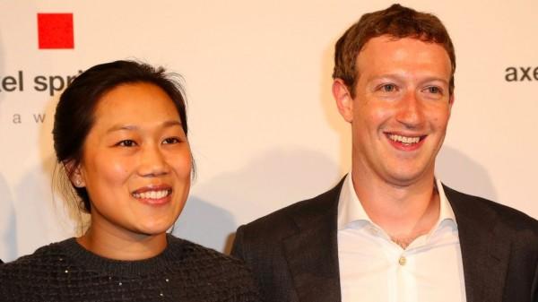 Mark Zuckerberg and Dr Priscilla Chan