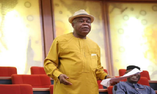 Theodore Orji - Nigerians react as Son of former Abia state governor, and serving senator, Theodore Orji becomes Speaker of State Assembly
