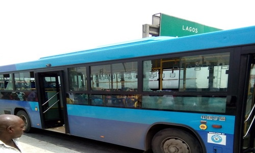 Vandalized BRT Bus