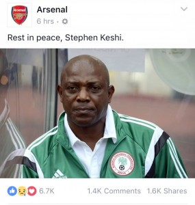 stephen keshi, arsenal