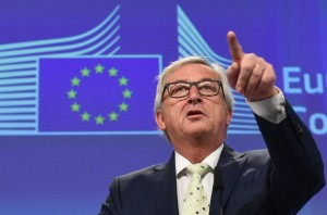 European Commission chief Jean-Claude Juncker leaves after a joint press conference following his meeting with the President of the European Parliament, the President of the European Council and the Dutch Prime Minister at the EU Headquarters in Brussels on June 24, 2016. European Commission chief Jean-Claude Juncker on June 24, 2016 denied that Britain's shock vote to leave the EU was the start of a process of disintegration for the bloc. / AFP PHOTO / JOHN THYSJOHN THYS/AFP/Getty Images