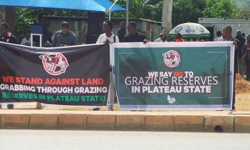 protest against grazing reserve-plateau