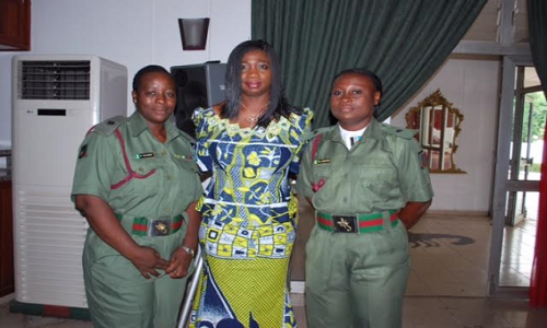 Abike Dabiri-Female soldiers