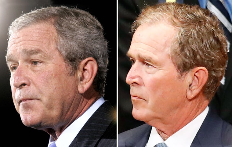 Former U S President George W Bush Got A Hair Makeover