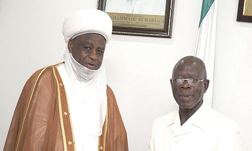 Adams Oshiomhole and Sultan of Sokoto