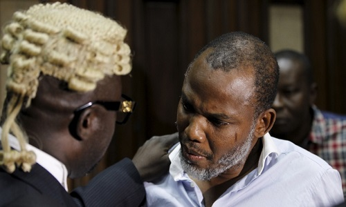 Nnamdi Kanu-lawyer-in-court