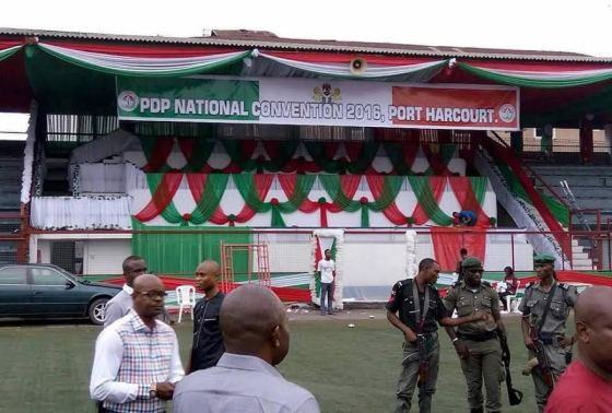 PDP CONVENTION-POLICE