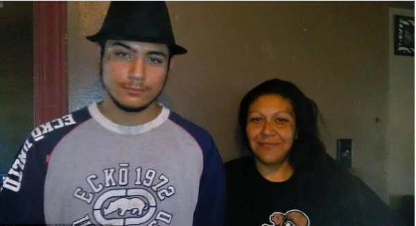 Monica Mares and son/lover, Peterson