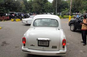 Dino Melaye's vintage Benz, backview