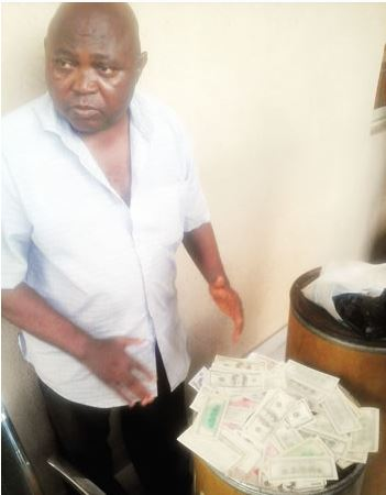 Grandpa held for producing fake dollars worth N3m