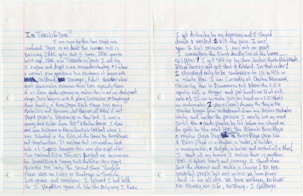Tupac letter