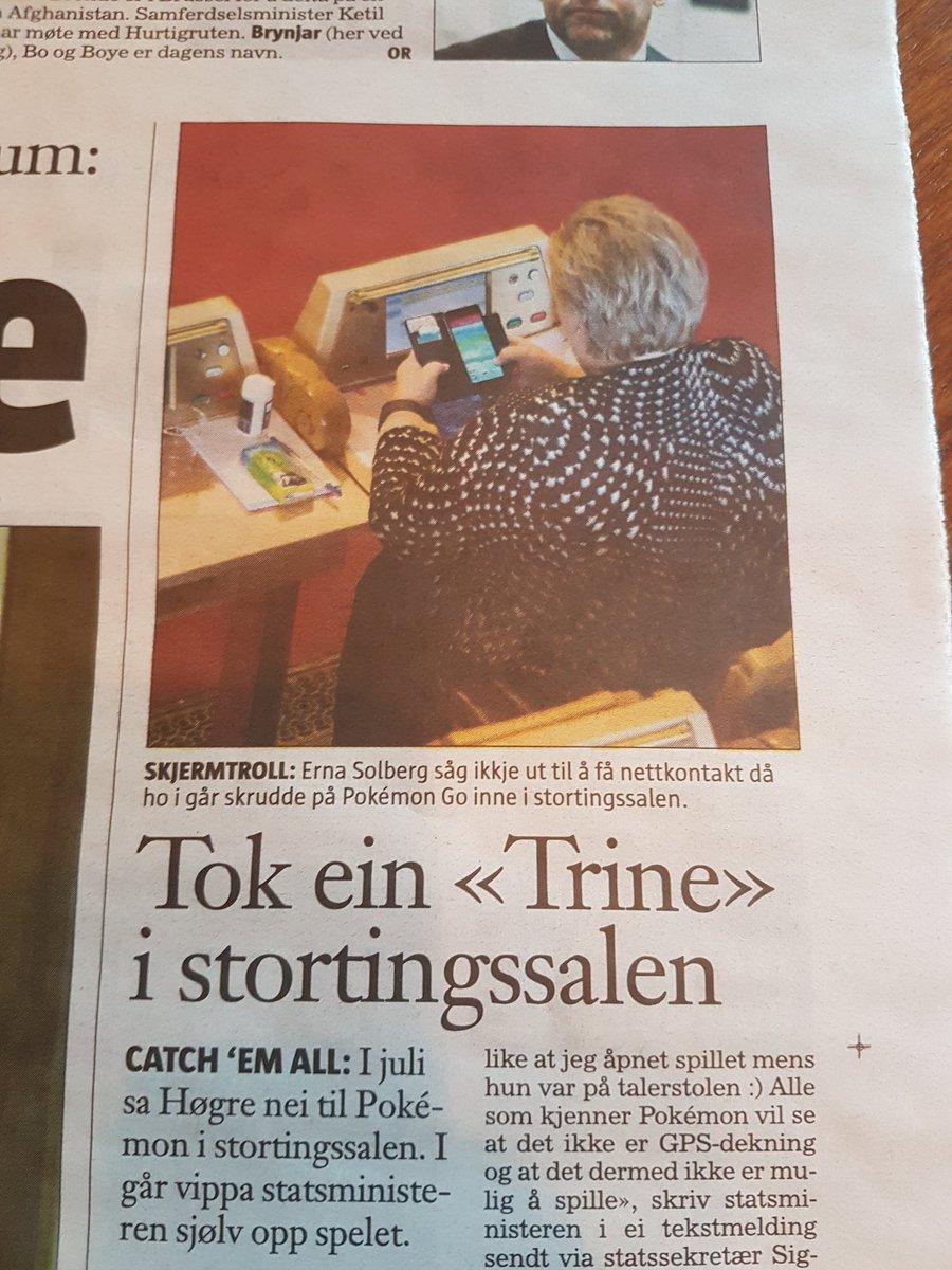 norwegian-prime-minister pokemon go