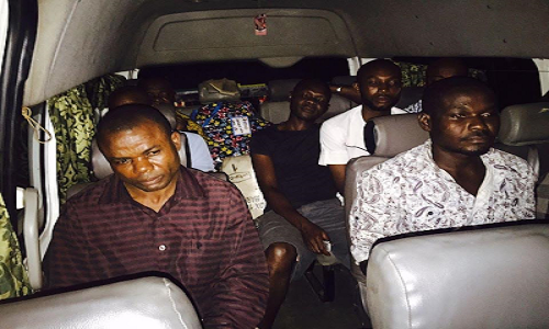 Suspected IPOB members arrested in Yenagoa, Bayelsa State.