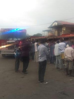Yaba Market fire
