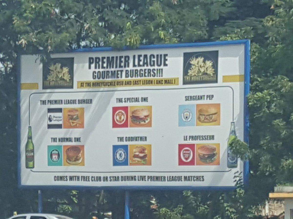 ghanaian bar honeysuckle offers premier league themed burgers