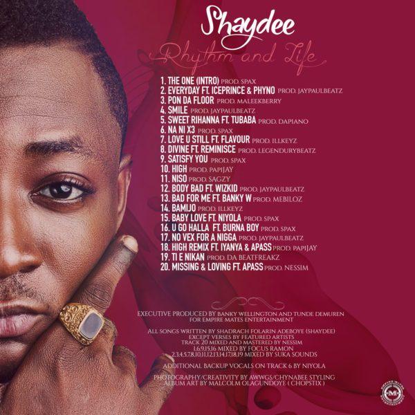 shaydee tracklist