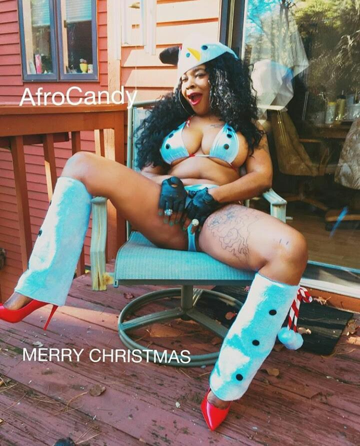 Afrocandy Shares Racy Photos For Christmas Information