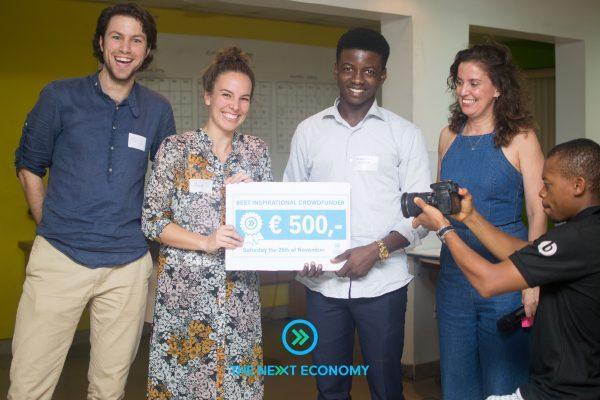 Esosa Agbontaen, winner - Most Inspirational Crowdfunder.