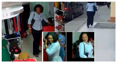 Well Dressed Lady Caught On CCTV Stealing A Phone & Cash In Lagos Store (Watch Video)
